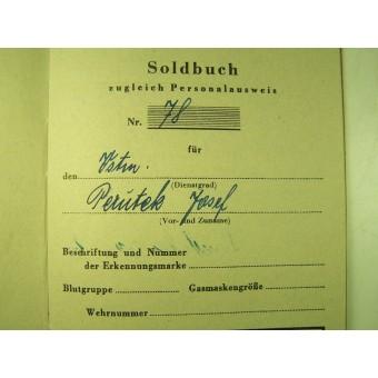 Deutscher Volkssturm Soldbuch.. Espenlaub militaria