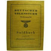 Deutscher Volkssturm Soldbuch.