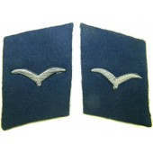 Luftwaffe blue collartabs for a medical personnel