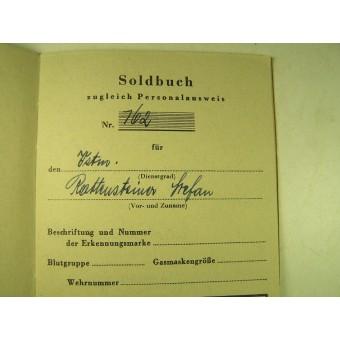 WW2 end war Deutscher Volkssturm Soldbuch.. Espenlaub militaria