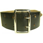 Black leather officers belt, RZM marked
