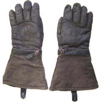 Pair of war time soviet tank crew gloves. Espenlaub militaria