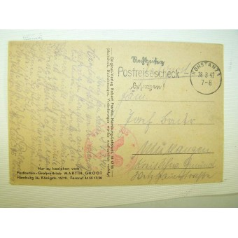 WW2 period made German propaganda postcard Martin Groot. Espenlaub militaria