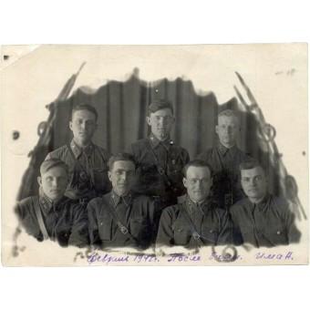 Officers after bath-house, February 1942. Espenlaub militaria