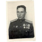 WW2 Infantry officer's photo, named and marked by 618 art brigade HQ