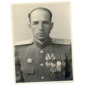 WW2 infantry podpolkovnik of 3-rd detached Guards division with Czech awards