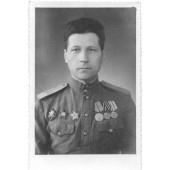 WW2 Photo of soviet colonel. HQ marked