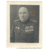 WW2 Soviet Russian Officer in rank colonel photo