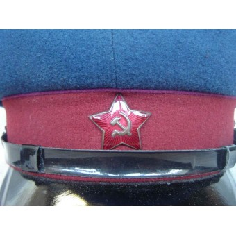 Soviet M35, NKVD troops visor hat, dated 1952. Near mint.. Espenlaub militaria