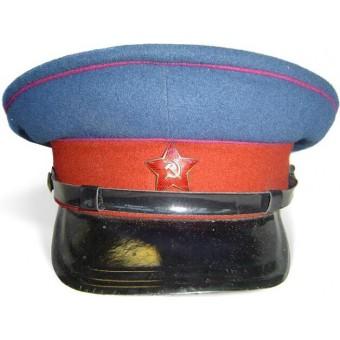 Soviet M35, NKVD troops visor hat, dated 1952. Near mint.. Espenlaub militaria
