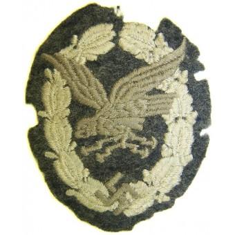 Cloth embroidered type of Luftwaffe Bord Schuetze- Beobachter abzeichen. Espenlaub militaria