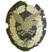 Cloth embroidered type of Luftwaffe Bord Schuetze- Beobachter abzeichen