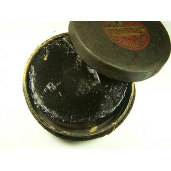 German WW2 unissued box with shoe polish cream. Espenlaub militaria