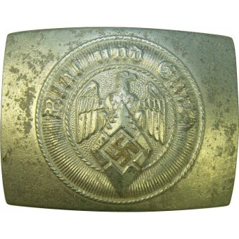 HJ zink cast buckle, made by factory RZM M/4/42. Espenlaub militaria