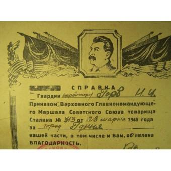 Set of 3 Award Certificates issued to Efreitor Gorb. Espenlaub militaria