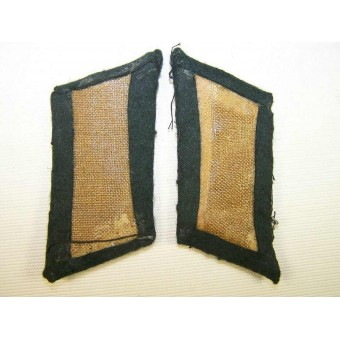 Bullion collartabs for officer of Panzertruppe. Espenlaub militaria