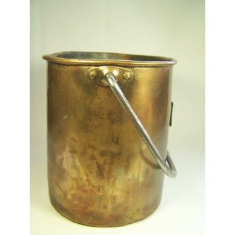 Imperial Russian cooper mess tin, marked!. Espenlaub militaria
