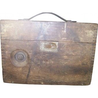 Imperial Russian wooden box for field telephone. Espenlaub militaria