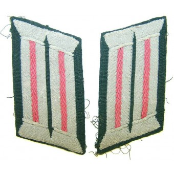 M 43 machine woven officers Panzer collar tabs. Espenlaub militaria