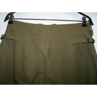 Rare Lend lease wool made green piped trousers for VOSO troops. Espenlaub militaria
