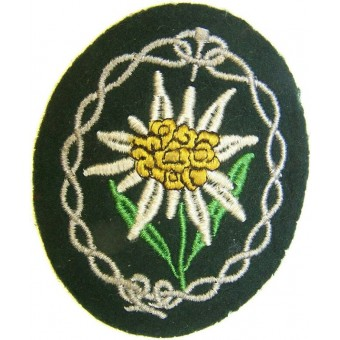 Sleeve patch for Gebirgsjager, Edelweiss. Espenlaub militaria