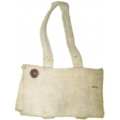 WW2 or pre-war made white canvas cover for the shovel.