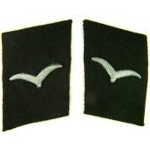 3rd Reich Luftwaffe Baueinheiten der Luftwaffe collar tabs, black