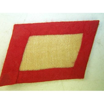 3rd Reich Luftwaffe FLAK troops collar tabs, red. Espenlaub militaria
