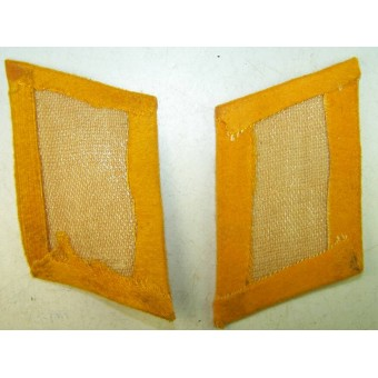 3rd Reich Luftwaffe Flying personnel  or Paratroopers collar tabs, yellow. Espenlaub militaria