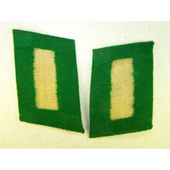 3rd Reich Luftwaffe Ground troops troops collar tabs, grass green. Espenlaub militaria
