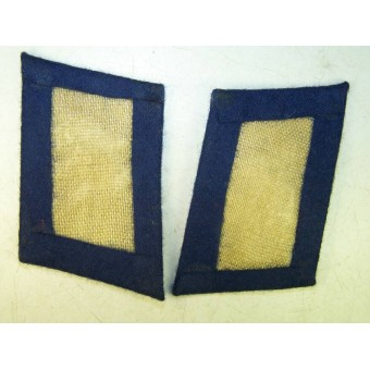 3rd Reich Luftwaffe Medical troops collar tabs, blue. Espenlaub militaria