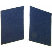 3rd Reich Luftwaffe Medical troops collar tabs, blue