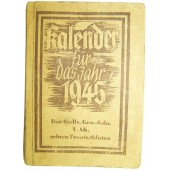 Diary-Calendar issued in 1945 year by Divisional Stuff of V Armee Korps