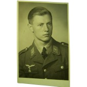 German Luftwaffe soldier in Tuchrock original WW2 photo