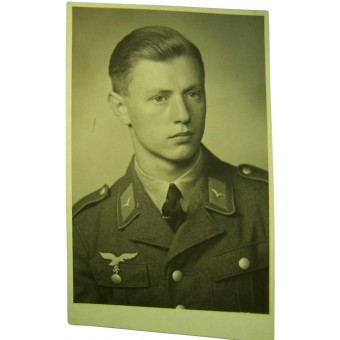 German Luftwaffe soldier in Tuchrock original WW2 photo. Espenlaub militaria