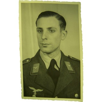 Luftwaffe soldier portrait photo. Espenlaub militaria