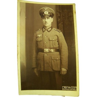 Original WW2 German Heer photo of Schutze. Espenlaub militaria