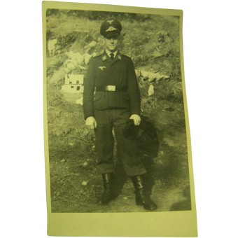 Original WW2 photo of German Luftwaffe soldier. Espenlaub militaria