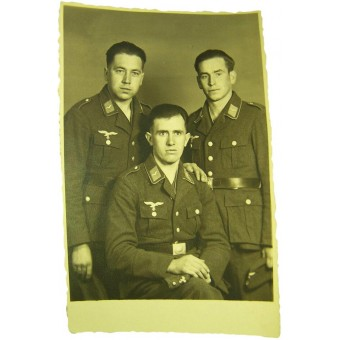 Original WW2 photo of German Luftwaffe soldiers in Tuchrocks. Espenlaub militaria