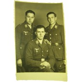 Original WW2 photo of German Luftwaffe soldiers in Tuchrocks