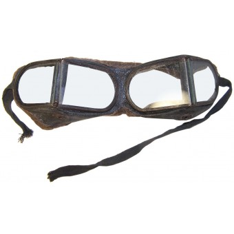 Armored troops/Motorcyclist/Automotive troops leather goggle. Espenlaub militaria