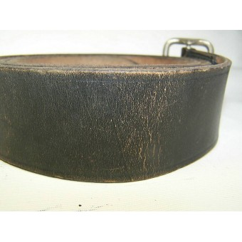 Black officers belt, marked: buckle - RZM M 5d/93. Espenlaub militaria