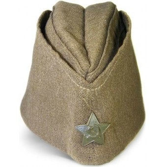 Soviet wool pilotka side hat dated 1945 year. Espenlaub militaria