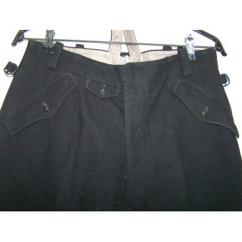 Early black SS breeches, brownlabeled, circa 1936. Espenlaub militaria
