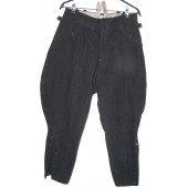 Early black SS breeches, brownlabeled, circa 1936