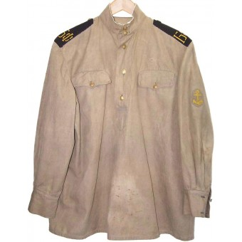 M 43 gymnasterka jacket, still in good condition for naval infantry of Baltic fleet