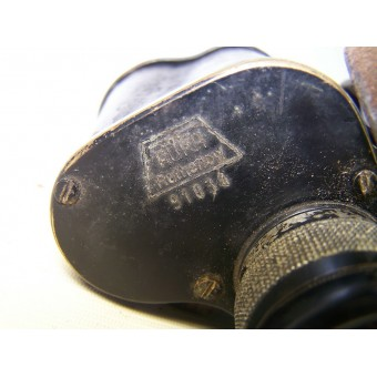 SS Totenkopf Binocular with leather case. Espenlaub militaria