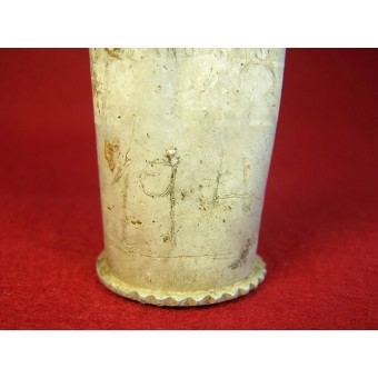 WW2 relics set of german lighter and hand made vodka cup. Espenlaub militaria