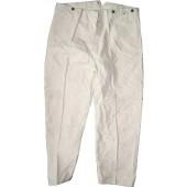 Mint working trousers marked II Ers Batl .42 W Drews und Sohn.Paper label