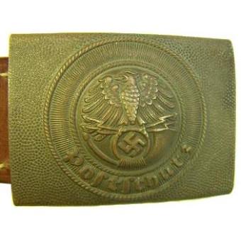 Postschutz brass buckle, Rare!!. Espenlaub militaria